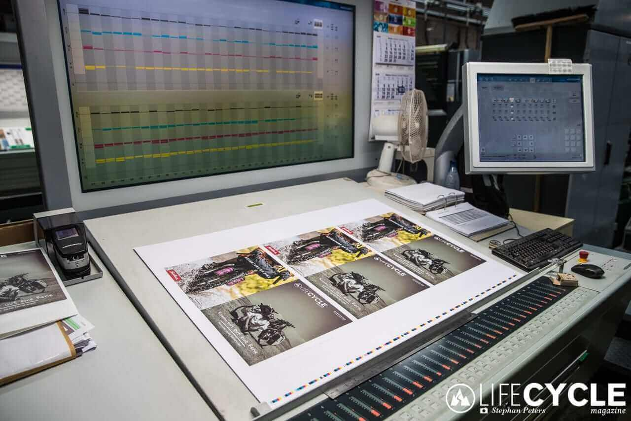 lifecycle magazine druckerei making of