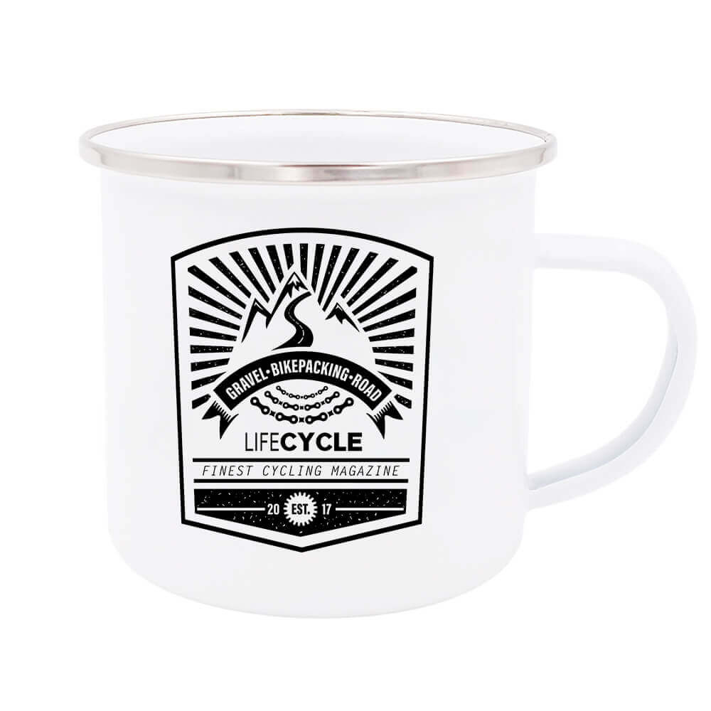 lifeCYCLE Emaille Tasse 1