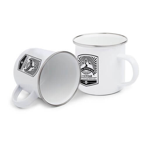 lifeCYCLE Emaille Tasse