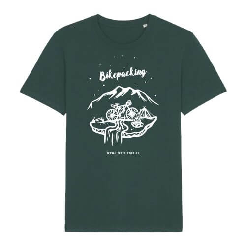 lifeCYCLE Bikepacking T-Shirt glazed green